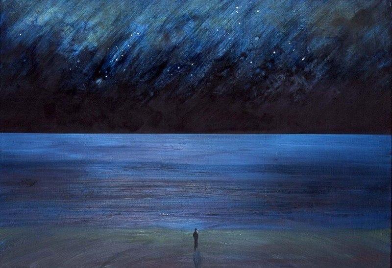 """Dio mio! Un intero attimo di beatitudine! Ed è forse poco seppure nell'intera vita di un uomo? Fëdor Dostoevskij Dipinto di Caspar David Friedrich, """"La stella della sera"""""""