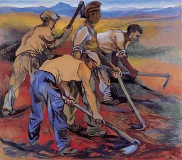 """""""Contadini al lavoro"""", 1950."""