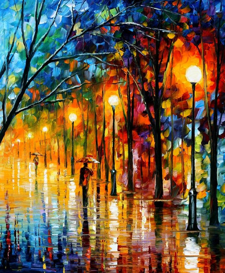 """The colors of winter"", dipinto di Leonid Afremov"