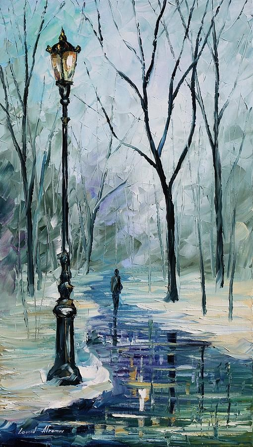 """Winter Light"" by Leonid Afremov"