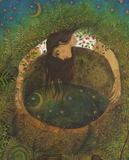 La luna è come la libertà: sta in cielo e in fondo al pozzo. Antonio Delfini Illustrazione di Jane Ray