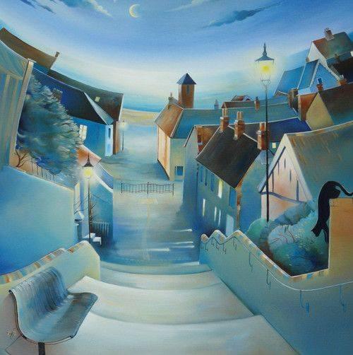 """Non faccio alcuna differenza tra un libro e una persona, un tramonto, un quadro. Tutto ciò che amo, lo amo di un unico amore Marina Cvetaeva - """"Il paese dell'anima"""" 'One Night By The Sea' By Cyndi Speer"""