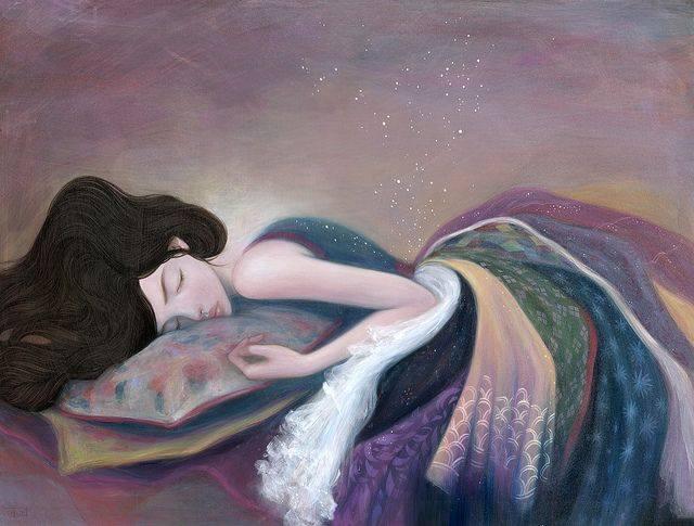 """Ho sempre desiderato allungare la notte per riempirla di sogni. Virginia Woolf """"Sleep to Dream"""" - Stella Im Hultberg"""