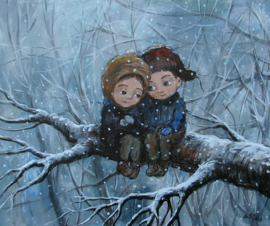 Lo spreco della vita si trova nell'amore che non si è saputo dare. Oscar Wilde Dipinto di Nino Chakvetadze