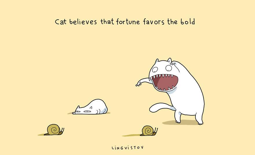 """""""Il gatto sa che la fortuna favorisce gli audaci."""""""
