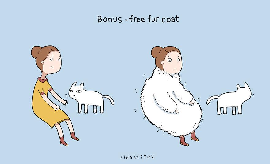 """""""Ti dona gratuitamente la sua pelliccia."""""""