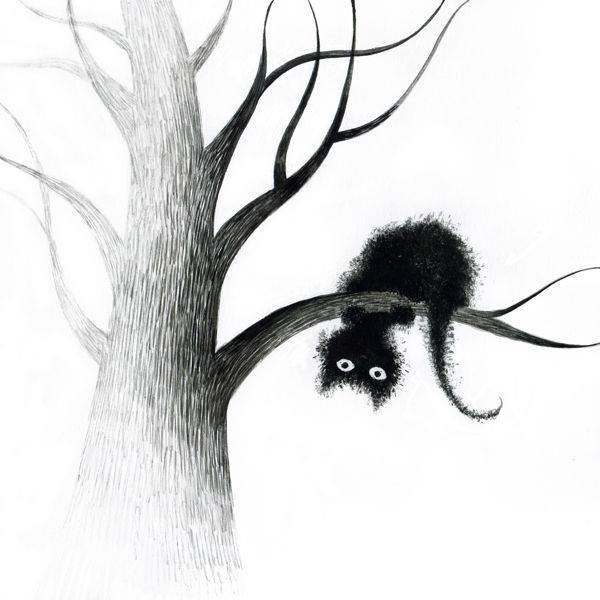"""O dei immortali, non vi è di peggio che un ignorante, che non riconosce nulla giusto se non quello che piace a lui. P. T. Afro """"Cat on tree"""" by Elena Lishanskaya"""