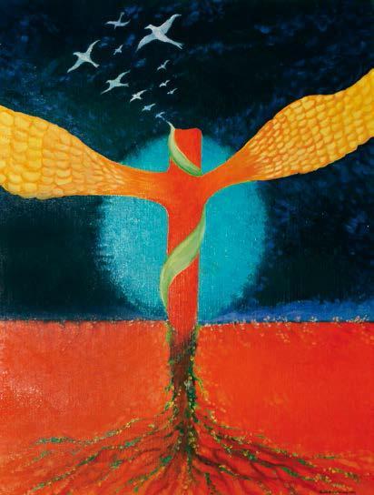 """""""In hoc signo"""", Roberto Carlocchia, 2006: olio 50×60."""