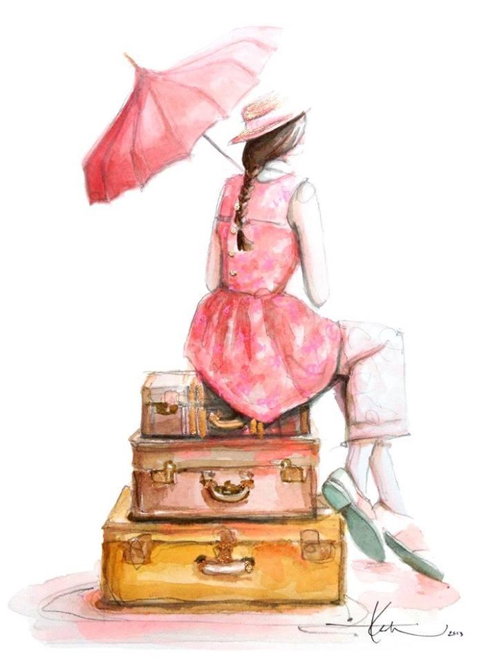 Chi cammina solo può partire oggi, ma chi viaggia in compagnia deve attendere finché l'altro non è pronto. _ Henry David Thoreau _ Far, Far Away Illustrated | Katie Rodgers
