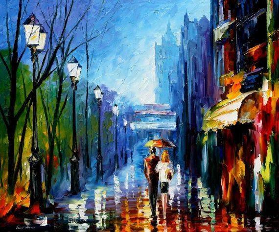 """Eravamo insieme, tutto il resto del tempo l'ho scordato. _ Walt Whitman _ """"Memories Of Paris"""" by Leonid Afremov"""