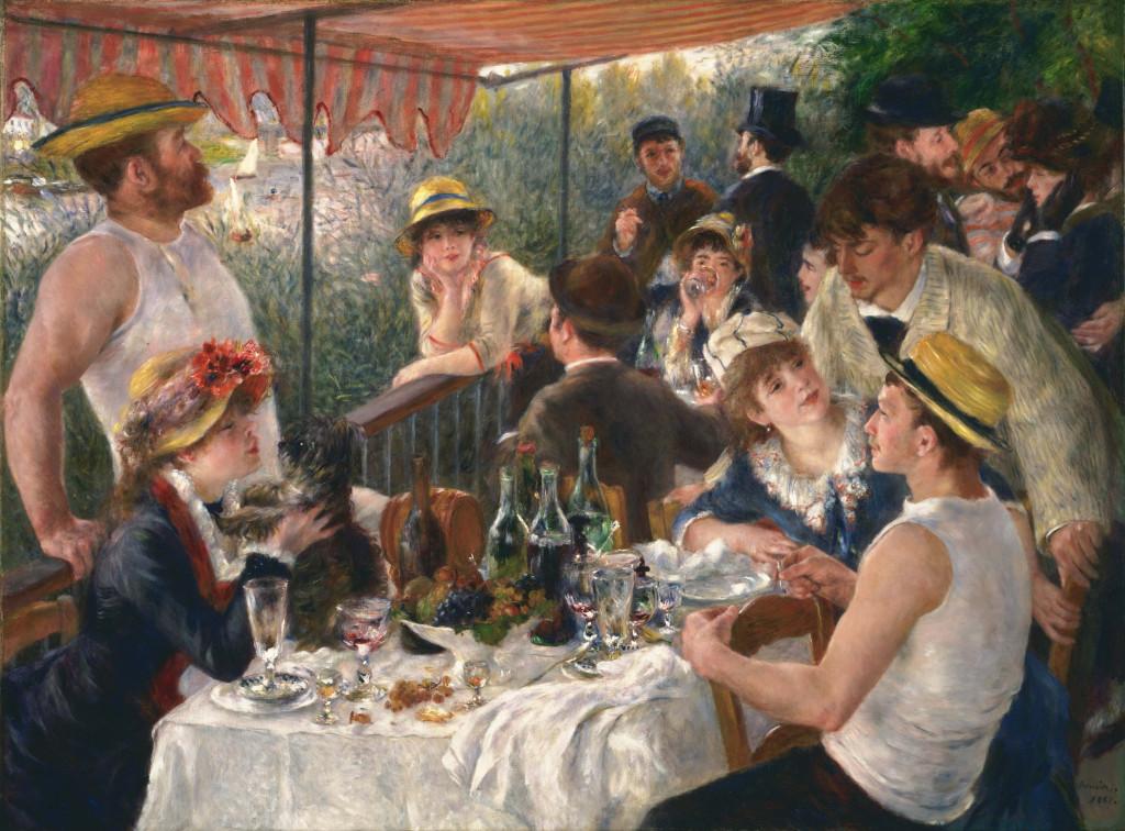"""""""La colazione dei canottieri"""", 1881."""