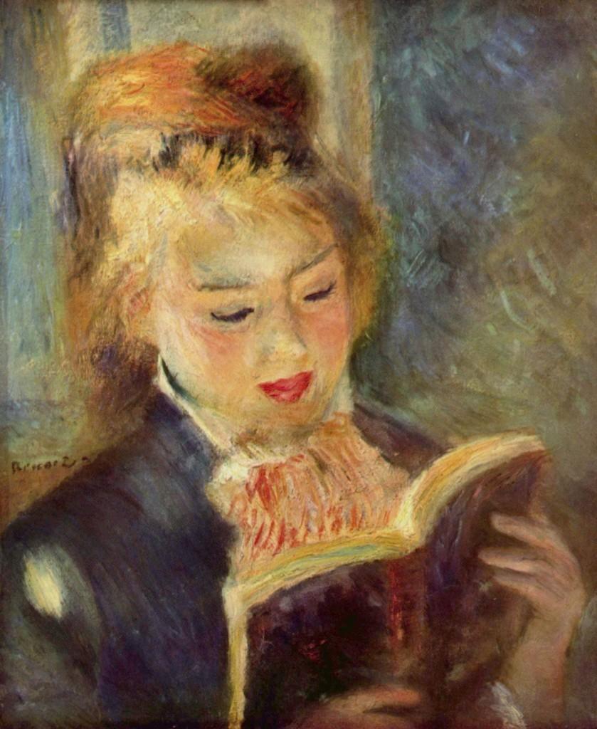 """""""La lettrice"""", 1875."""