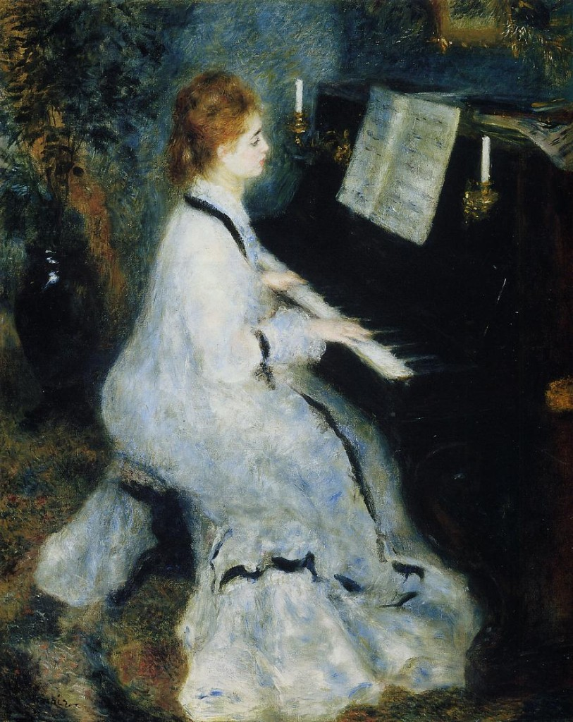 """""""Giovane donna al piano"""", 1873."""