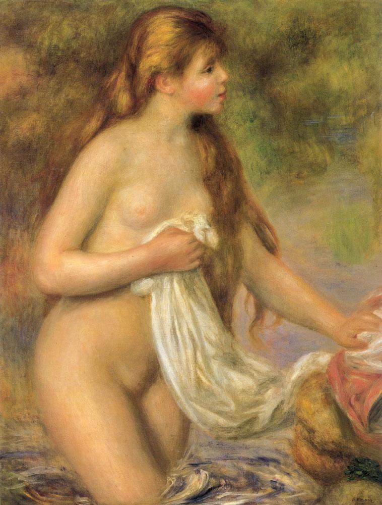 """""""Donna al bagno dai capelli lunghi"""", 1896."""