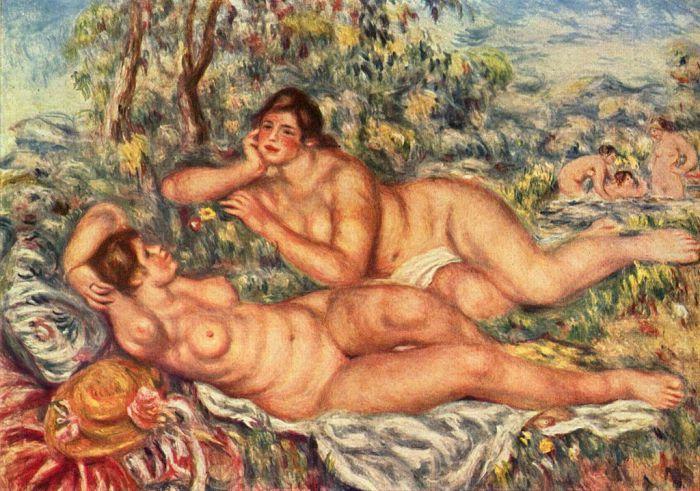 """""""Le bagnanti"""", 1918-19."""