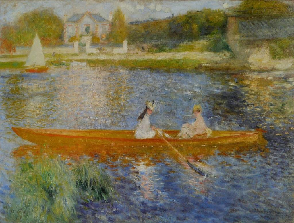"""""""In barca sulla Senna"""", 1875."""