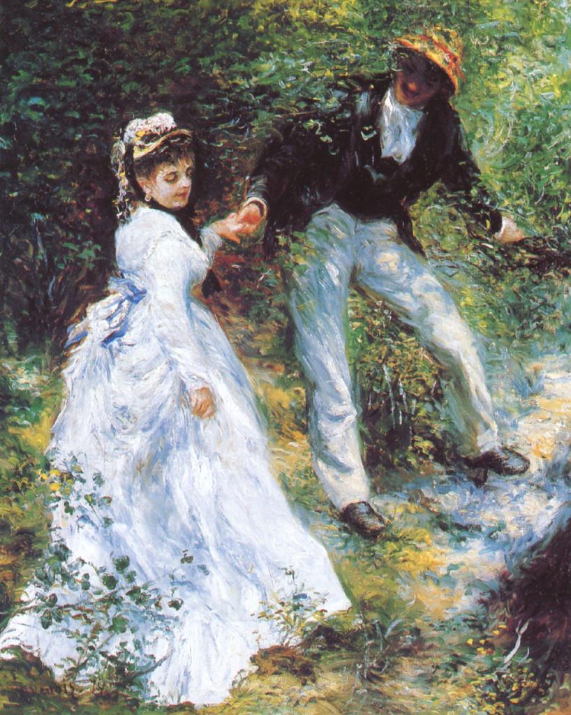 """""""La passeggiata"""", 1870."""