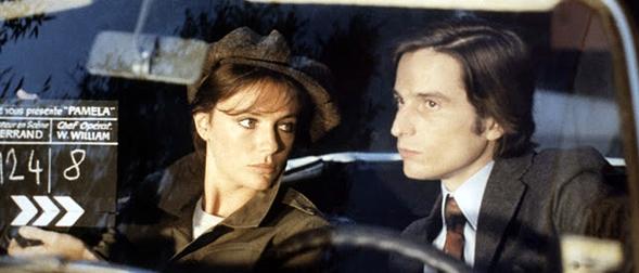 """Una scena del film """"Effetto notte"""" che vede il regista qui accanto a Jacqueline Bisset."""