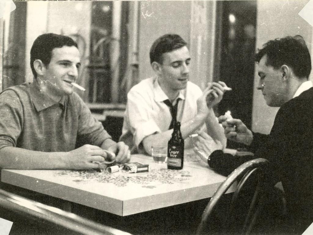 François Truffaut insieme a Robert Lachenay e André Mrugalski.
