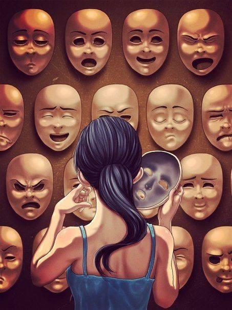 Vivere senza maschere è pericoloso. C'è il rischio che qualcuno veda come siamo veramente. _ Mirko Badiale _ Immagine reperita nel web.