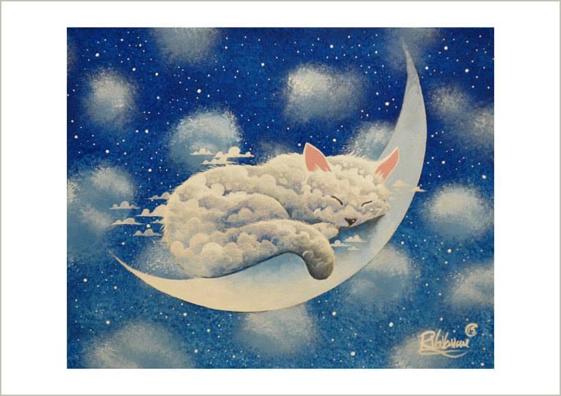 """I sogni devono essere eccessivi, sempre. Ci penserà la realtà, poi, a ridimensionarli. (Cit.) """"Sleeping cloud on the moon"""" di Raphaël Vavasseur"""