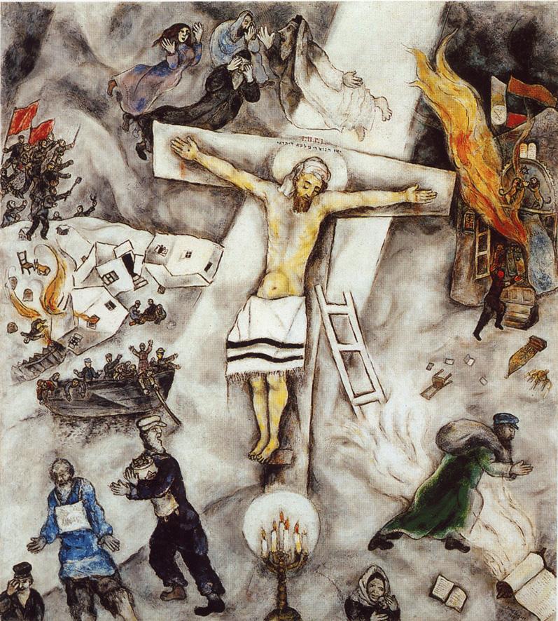 """""""Crocifissione bianca"""" di Marc Chagall"""