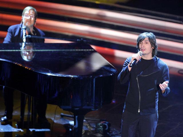 Lucio Dalla e Pierdavide Carone, Festival di Sanremo 2012.