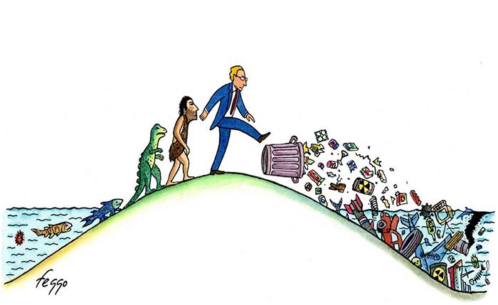 """""""Evoluzione"""", illustrazione di Feggo."""