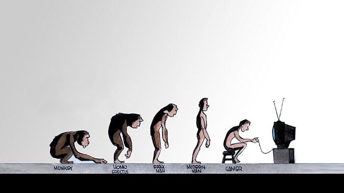 """""""Evoluzione"""", autore sconosciuto."""
