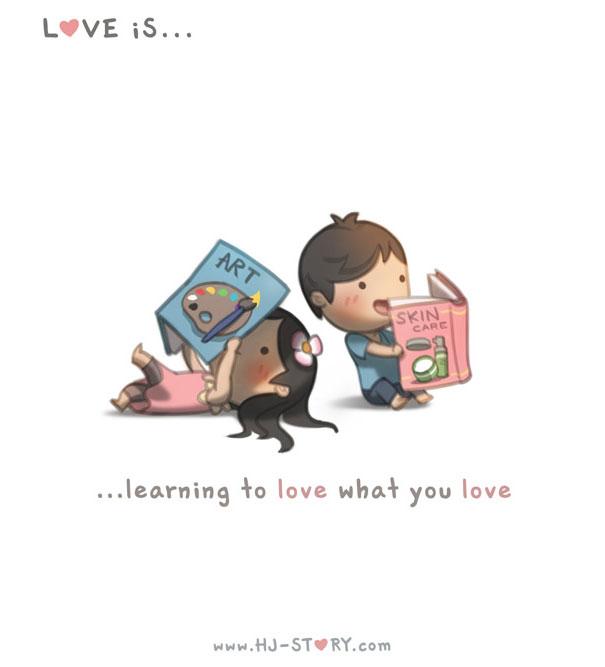 """""""L'amore ... imparare ad amare quello che ti piace."""""""
