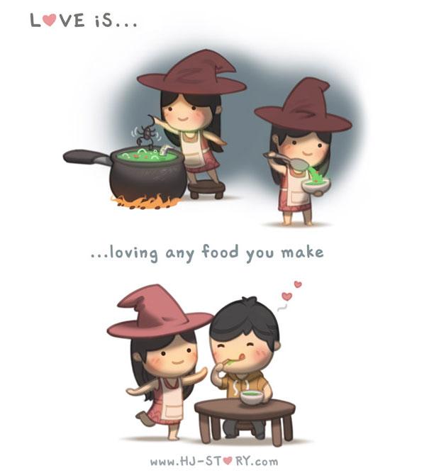 """""""L'amore e... ...amare qualsiasi piatto tu prepari."""""""
