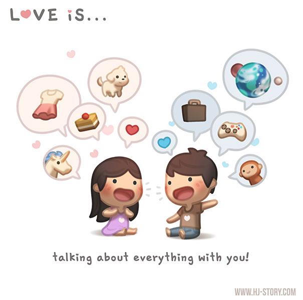 """""""L'amore e... ...parlare di tutto con te."""""""