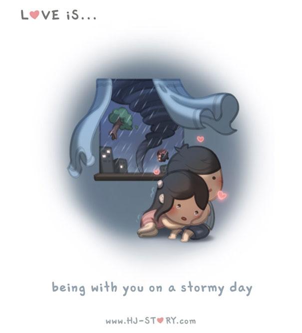 """""""L'amore e... ...farti compagnia in una giornata tempestosa."""""""