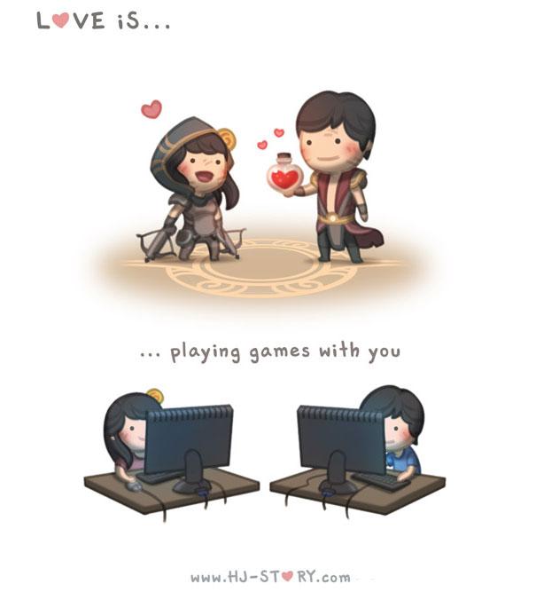 """""""L'amore e'... giocare ai videogiochi con te."""""""