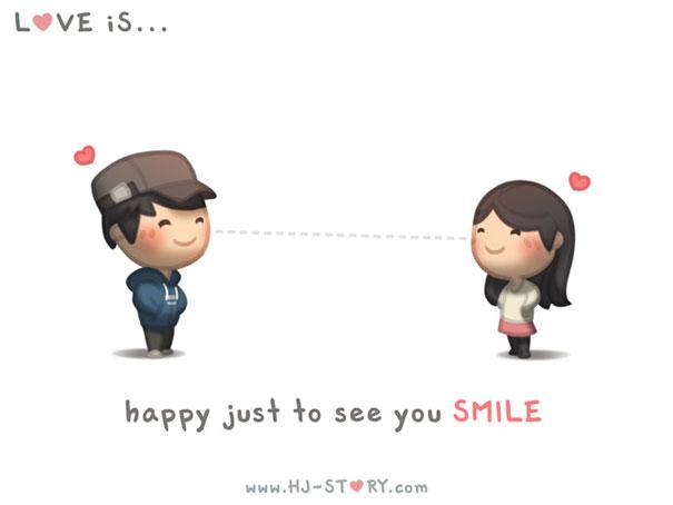 """""""L'amore e'... sentirsi felice nel vederti sorridere."""""""