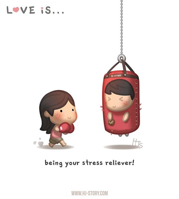 """""""L'amore e'... diventare il tuo antidoto contro lo stress."""""""