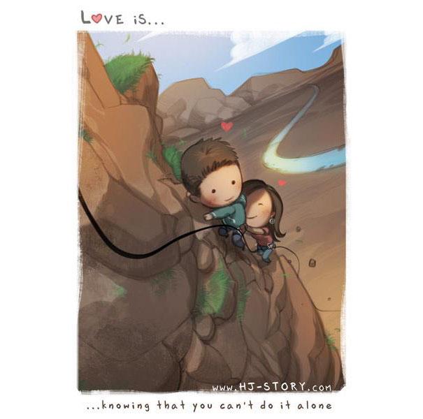 """""""L'amore e'... sapere di non fare qualcosa da solo."""""""