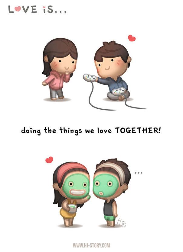 """""""L'amore ... fare insieme le cose che amiamo."""""""