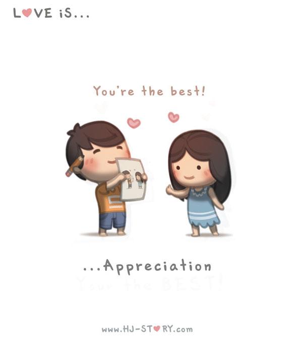 """""""L'amore e' apprezzamento."""""""