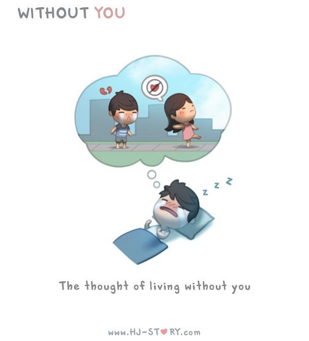 """""""L'amore e'... il pensiero di vivere senza te."""""""