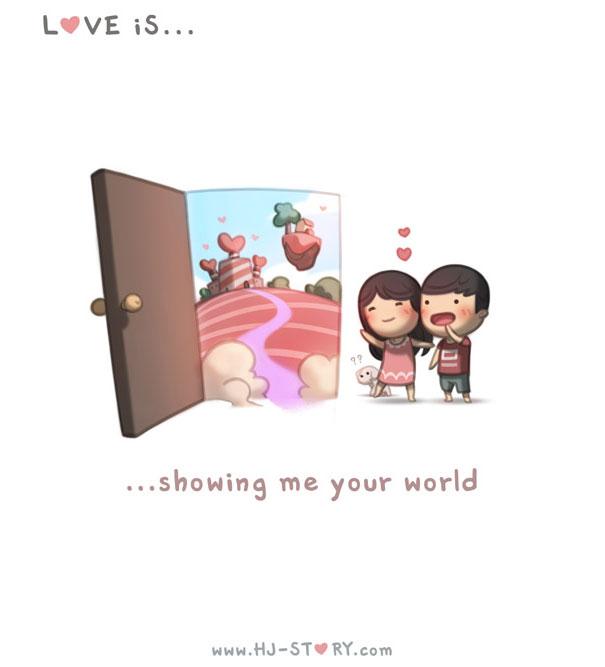 """""""L'amore e'... mostrarmi il tuo mondo."""""""