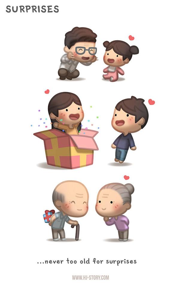 """""""L'amore è... non essere mai troppo vecchi per le sorprese."""""""