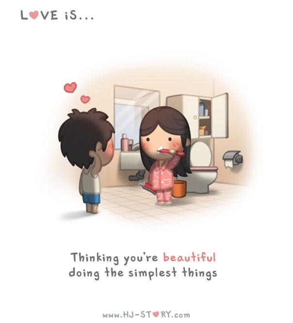 """""""L'amore... pensare a quanto sei bella nel fare le cose piu semplici""""."""