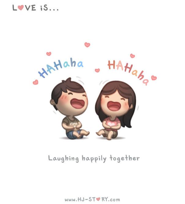 """""""L'amore e'... ridere insieme allegramente."""""""