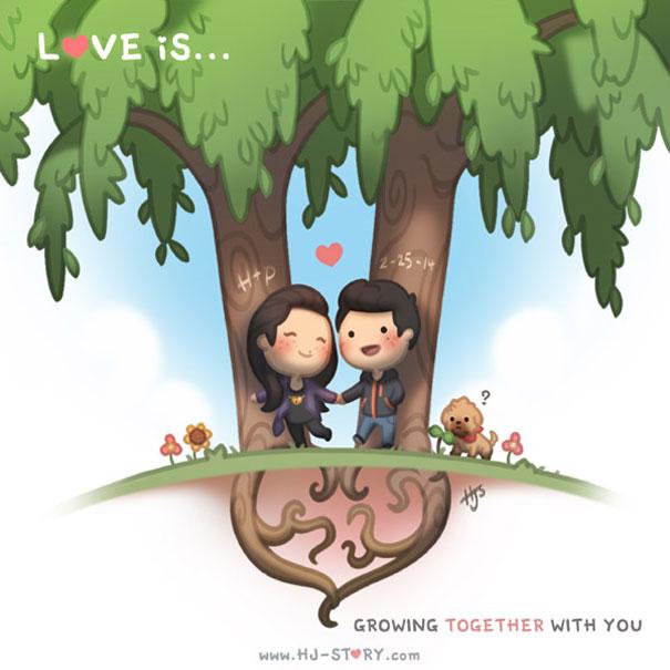 """""""L'amore e'... crescere con te."""""""