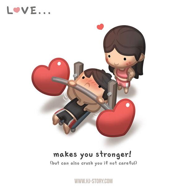 """""""L'amore... ti rende piu' forte."""""""