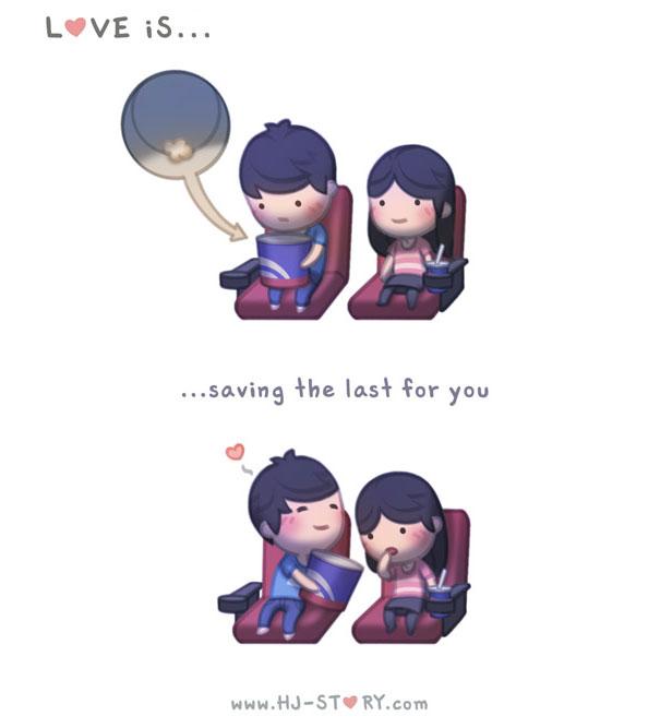 """""""L'amore e... conservare l'ultima parte per te."""""""