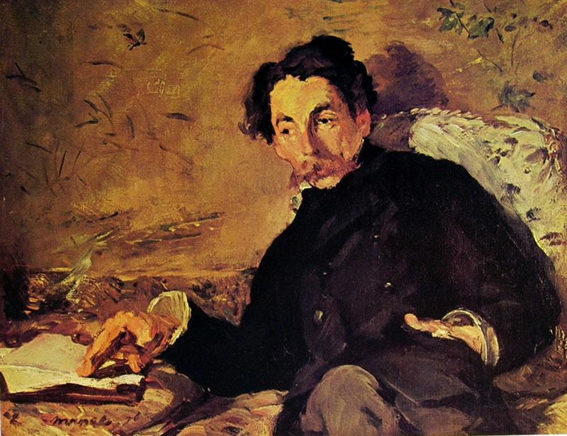 Ritratto di Stèphane Mallarmè eseguito da Manet.