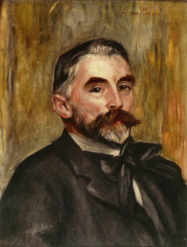Stèphane Mallarmè ritratto da Renoir.
