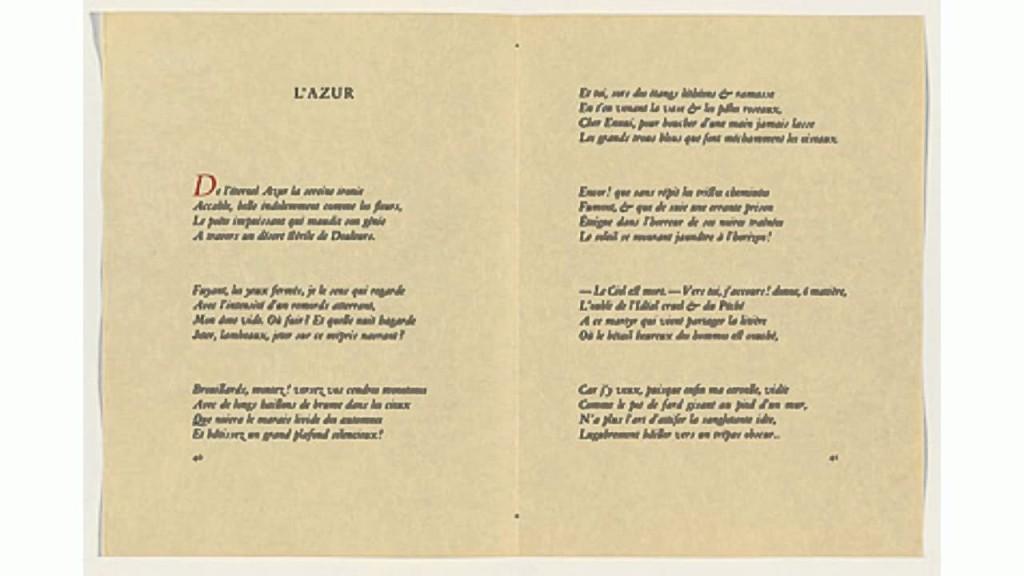 """""""L'Azur"""" di Stèphane Mallarmè."""